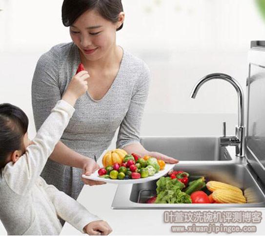 方太水槽洗碗机X1T清洗果蔬步骤