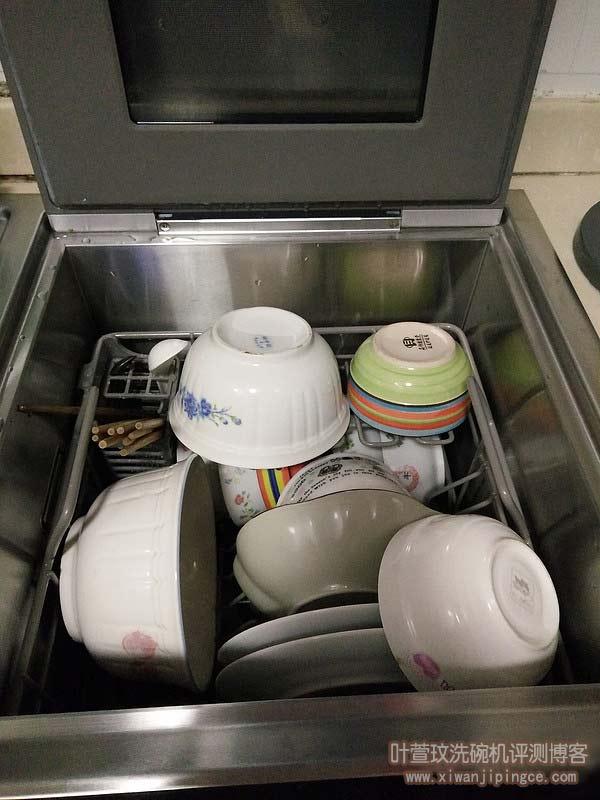 满负载洗碗摆放参考