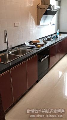 美的洗碗机安装效果