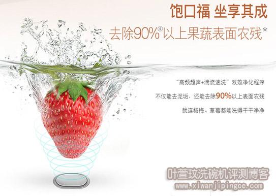 洗碗机祛果蔬农残技术